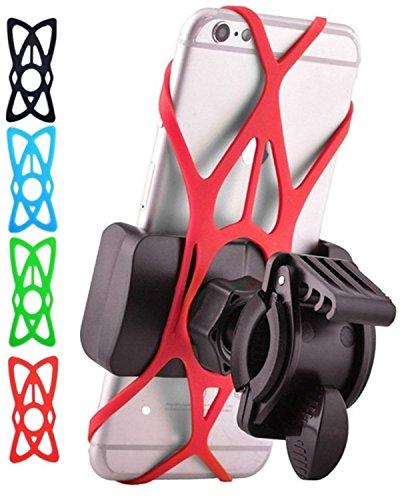 JoshNAh Bike Phone Mount , Universal Cell Phone Holder for Bicycle Handlebars , fits Iphone X ,  ...