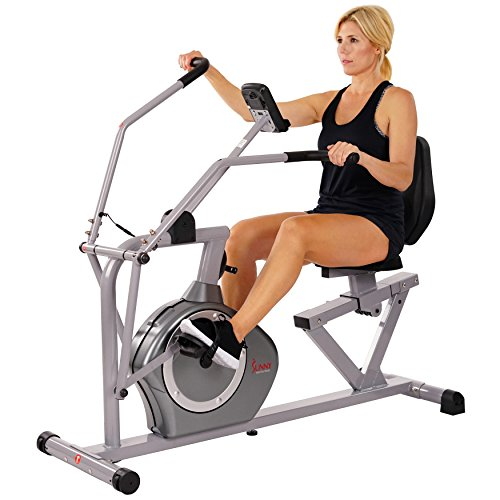 Sunny Health & Fitness Magnetic Recumbent Bike Exercise Bike, 350lb High Weight Capacity, Cr ...