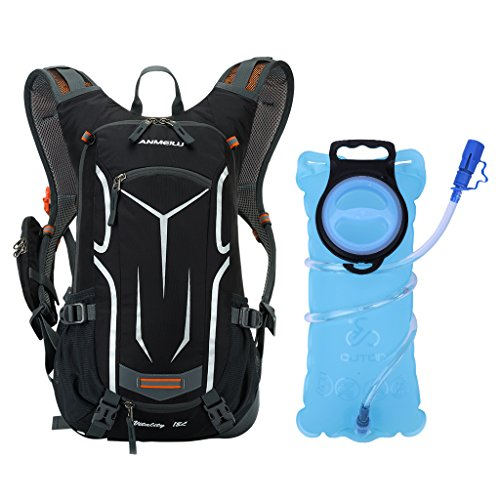 OUTON 18L Hydration Pack Backpack with 2L Water Bladder, Lightweight Breathable Cycling Hiking R ...
