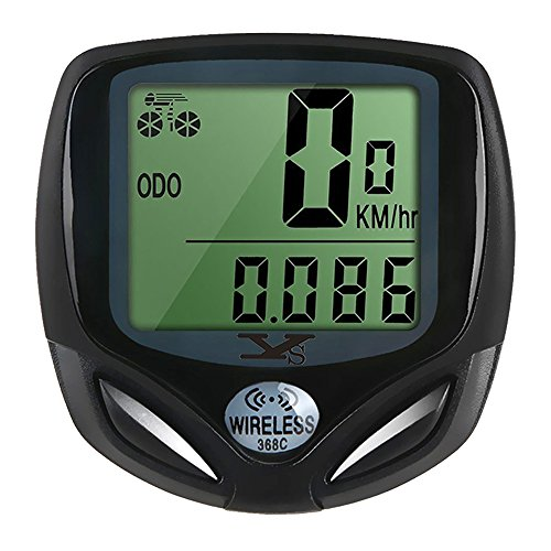 Bicycle Speedometer and Odometer Wireless Waterproof Cycle Bike Computer with LCD Display & ...