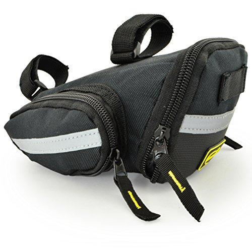 Lumintrail Strap-on Bike Saddle Bag Bicycle Cycling Under Seat Pack Medium or Large (Large)