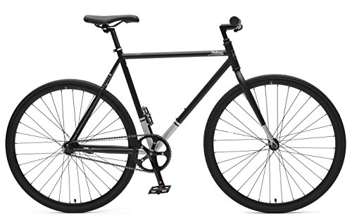 Critical Cycles Harper Coaster Fixie Style Single-Speed Commuter Bike with Foot Brake, Matte Bla ...