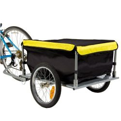 Best Choice Products Tow Hauler Garden Bike Cargo Trailer Bicycle with Cover Shopping Cart Carrier