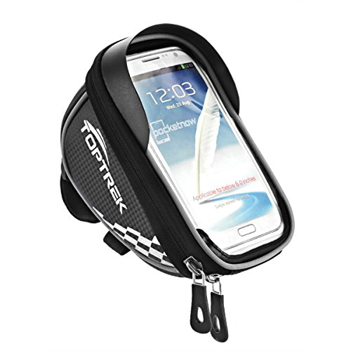 TOPTREK Cycling Bicycle Bike Front Frame Bags Phone Mount Holder For iPhone 7 Plus / iPhone 6s / ...