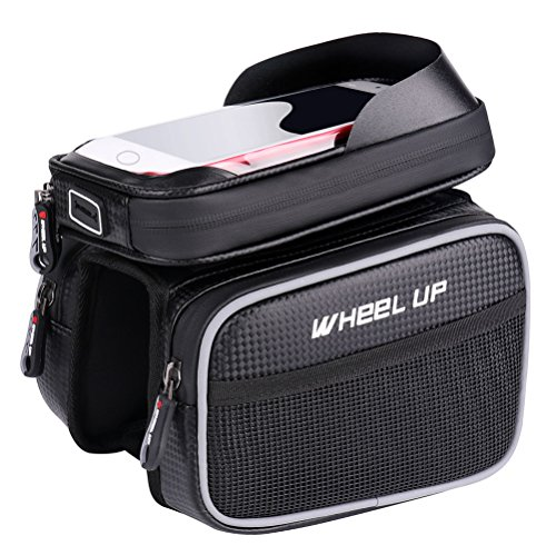 Bike Bag for Cell Phone, Bicycle Front Shelf Large Storage Bag, Waterproof 6.2 inch Touch Screen ...