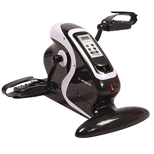 Confidence Fitness Motorized Electric Mini Exercise Bike / Pedal Exerciser Black (Certified Refu ...