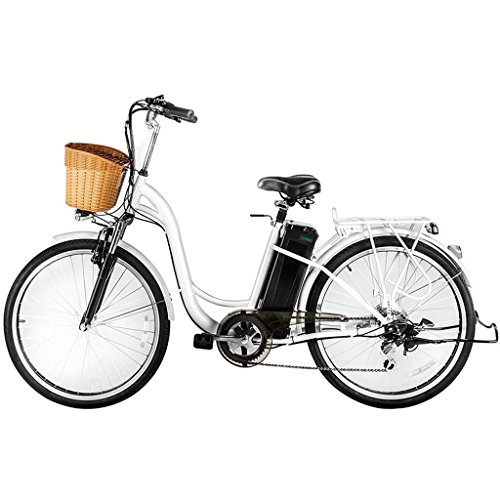 Nakto 26″ 250W Cargo-Electric Bicycle 6 speed e-Bike 36V Lithium Battery Aadult/Young Adul ...