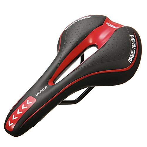 OUTERDO Bike Saddle Mountain Bike Seat Breathable Comfortable Bicycle Seat with Central Relief Z ...