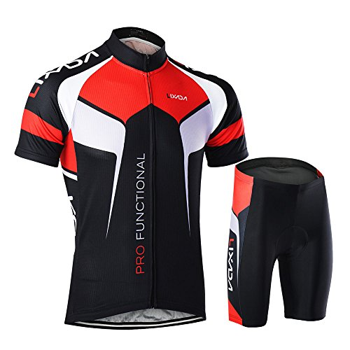 Lixada Men's Cycling Jersey Short Sleeve with Padded Shorts Quick-Dry Summer Short Bike Cl ...