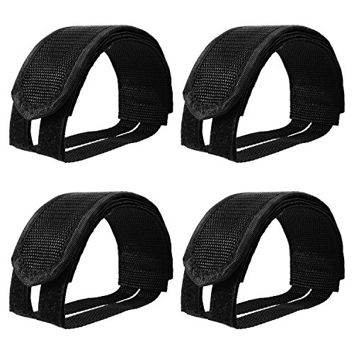 Outus 2 Pairs Bicycle Feet Strap Pedal Straps for Fixed Gear Bike, Black