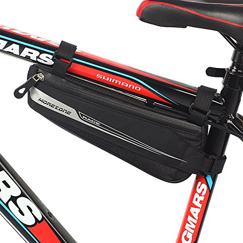 MOREZONE Bike Triangle Frame Bag, Bicycle Pouch Under Seat Top Tube Pack Water Resistant (L)