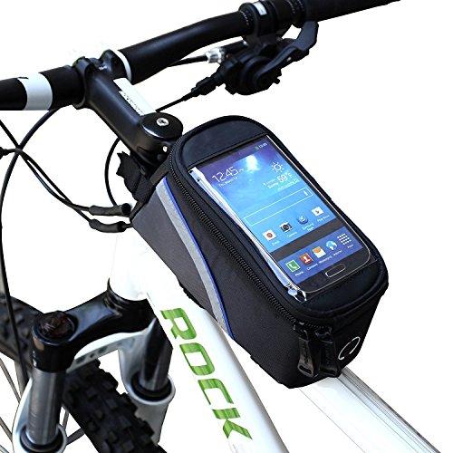 ArcEnCiel Water Resistant Front Top Tube Pannier Bike Frame Storage Bag Mobile Phone Holder ≤ 5. ...