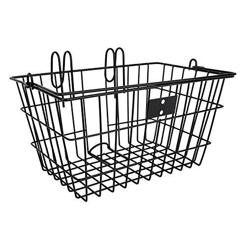 SunLite Wire Lift-Off Front Basket, Black