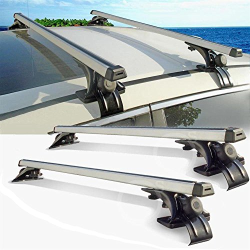 Beamtop 48″ Aluminum Universal Car Roof Rack Cross Bars With T-Bolt Slot Carrying Luggage  ...