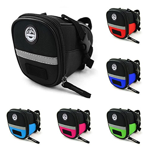 Seat Pack, Seat Post Bag, Bicycle Seat Bag in Exciting Colors (Red)
