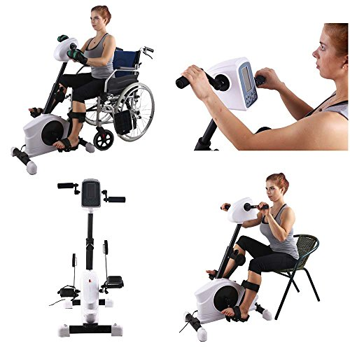 Konliking 180W Electronic Physical Therapy and Rehab Bike Pedal Motorized Trainer for Handicap,  ...
