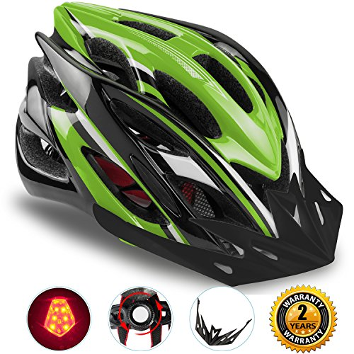 Basecamp Specialized Bike Helmet with Safety Light,Adjustable Sport Cycling Helmet Bicycle Helme ...