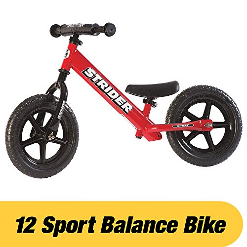 Strider – 12 Sport Balance Bike, Ages 18 Months to 5 Years, Red