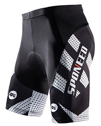 Sponeed Men's Bicycle Shorts Padding Cycling Pants Padded Road Bike Mountain Short 3D Cycl ...