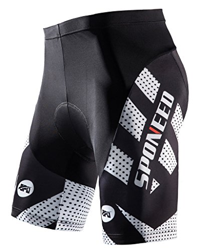 Padded Cycling Shorts Gel Cycle Wear Mens Road Biking Pants Bicycle Riding Clothing Pant Spinnin ...