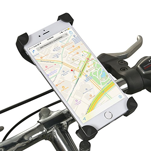 Universal Bike Cell Phone Mount – DAWAY A125 Bicycle Handlebar Phone Holder Cradle for Iph ...