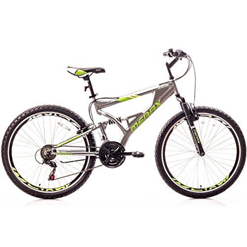 Merax Falcon Full Suspension Mountain Bike Aluminum Frame 21-Speed 26″ Bicycle