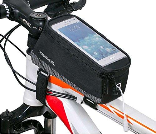 Cycling Bike Bicycle Handlebar Frame Pannier Front Top Tube Bag Pack Rack X Large Waterproof for ...