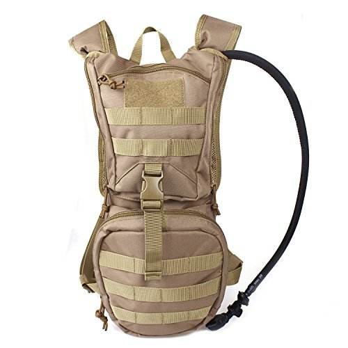 Tactical Hydration Pack Backpack 900D with 2.5L Bladder for Hiking, Biking, Running, Walking and ...