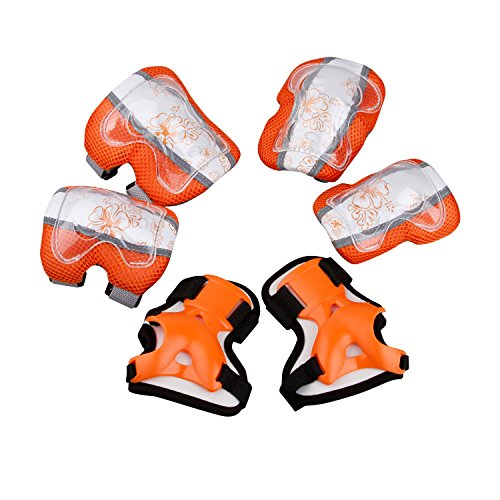 KUKOME Child / Kid Sports Protective Gear Safety Pad Safeguard Knee Elbow Wrist Support Pad Set  ...