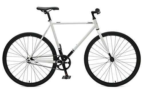 Critical Cycles Harper Coaster Fixie Style Single-Speed Commuter Bike with Foot Brake, White &am ...