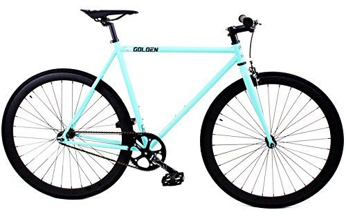Golden Cycles Fixed Gear Bike Steel Frame with Deep V Rims-Collection, Striker