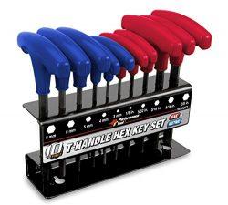 Performance Tool W80277 T-Handle Combination Hex Key Set, 10-Piece
