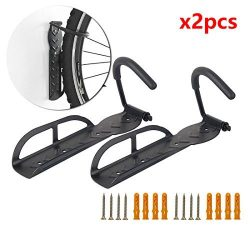 Bike Hook Black Wall Mounted Mount Rack Holder Hanger Stand Bike Hooks Set Solo Vertical Bike Rack