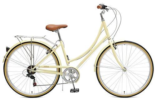 Critical Cycles Beaumont-7 Seven Speed Lady's Urban City Commuter Bike, Cream, 44cm (Mediu ...