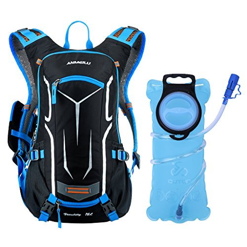 OUTON Hydration Backpack with 2L Water Bladder BPA Free Leak Proof, Lightweight 18L Hydration Pa ...