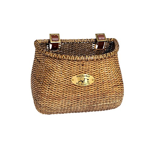 Nantucket Bicycle Basket Co. Lightship Collection Adult Bicycle Basket, Classic/Tapered, Stained