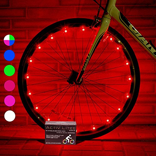 Super Cool Bicycle Tire Lights (1 Wheel, Red) Hot LED Bday Gift Ideas & Christmas Presents & ...