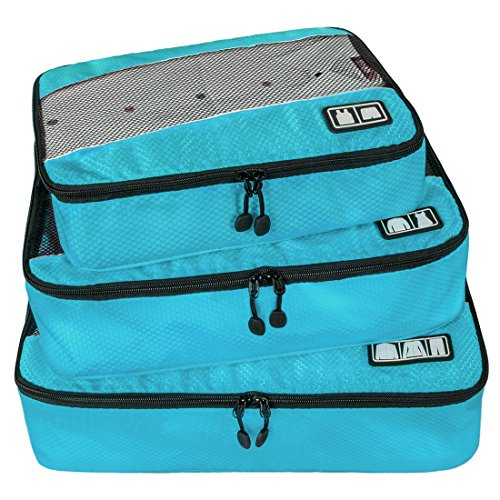 BAGSMART Travel Packing Cube (Small-Large 3 Piece) for Carry-on Travel Accessories, Suitcase and ...