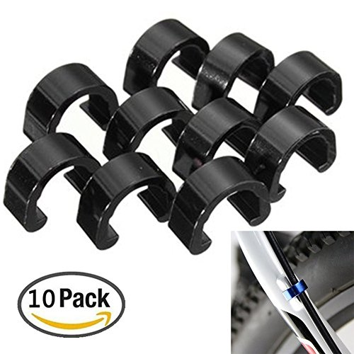 digi-Hunter 10Pcs Bicycle C-Clips Buckle Cable Guides Brake Hose Housing Road Mountain Bike