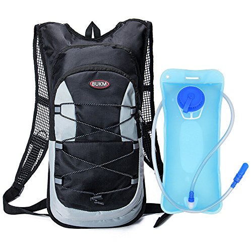 Hydration Backpack, Bukm UltraLight 2L Hydration Pack with Water Bladder Camping Hunting Running ...