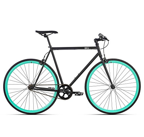 6KU Beach Bum Fixed Gear Bicycle, Black/Celeste,   52cm