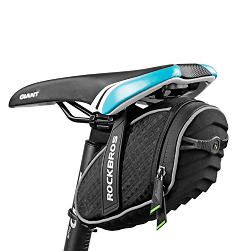 RockBros 3D Shell Saddle Bag Cycling Seat Pack for Mountain Road Bike Black