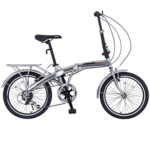 ORKAN 20″ MTB Folding bike Sports Shimano 6 Speed Silver Bike SLIVER