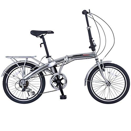ORKAN 20″ MTB Folding bike Sports Shimano 6 Speed Silver Bike SLIVER