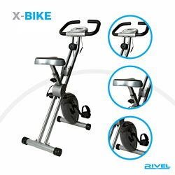 Folding Exercise Bike with 8-Level Magnetic Control System And LCD Display 300lb-Capacity Heavy  ...
