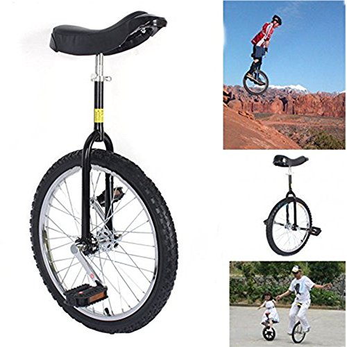 20″ Unicycle Black Unicycle Chrome Wheel Unicycle For Youth Adult Black Cycling Outdoor Sp ...