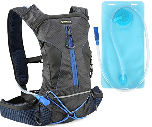 Hydration Backpack Evecase Daypack with 2 Liter Water Bladder for Cycling Hiking Climbing Runnin ...