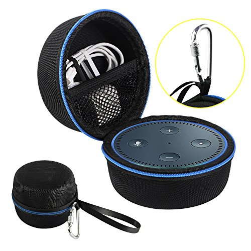 Echo Dot Case, Portable Carrying Travel Bag Protective Hard Case Cover for use with Amazon Echo  ...