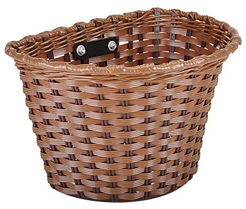 Kent Plastic Bicycle Basket, Brown, 11 x 7 x 8-Inch