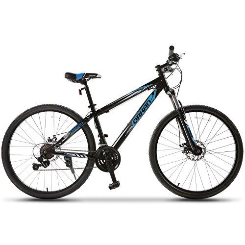 ORKAN 27.5″ Men's Mountain Bike 21 Speed Bicycle Shimano Hybrid Black & Blue